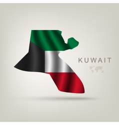 Flag of kuwait as a country vector