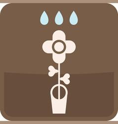 Flower in flowerpot vector