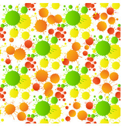 Green yellow red orange watercolor drops seamless vector
