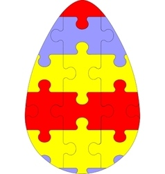Holiday puzzle egg in color 03 vector image vector image