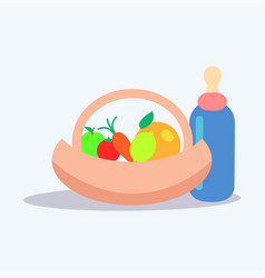 Kids healthy ration flat concept vector