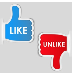 Like and unlike labels vector