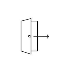 Logout exit icon vector