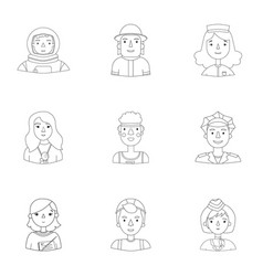 People of different profession set icons in vector
