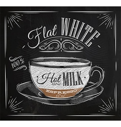 Poster flat white chalk vector image vector image