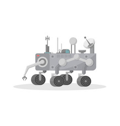 Robotic mars rover with hand manipulator icon vector