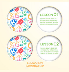 school education infographic concept vector image
