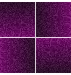 Set purple circle dotted background vector