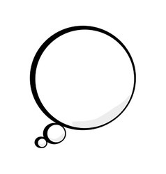 Thinking bubble talk comic vector