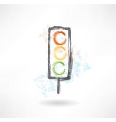 traffic light grunge icon vector image
