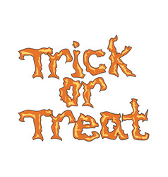 trick or treat message vector image vector image