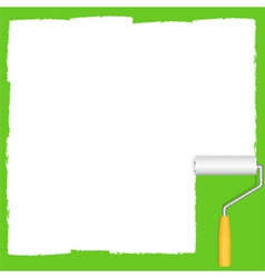 White paint roller vector