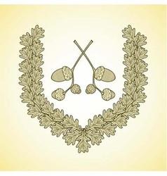 Wreath oak2 vector