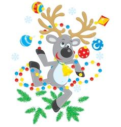 Reindeer dancing vector