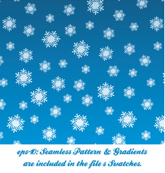 christmas snow pattern vector image