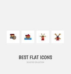Flat icon alternative set of wind energy vector