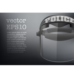 Background of Police protect mask vector image