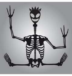 Crazy alien skeleton eps10 vector