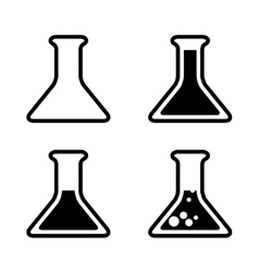 Test tube icons vector