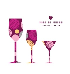abstract textured bubbles three wine glasses vector image
