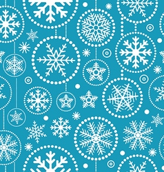 Christmas snowflakes seamless pattern vector