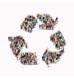 Group people shape recycling vector
