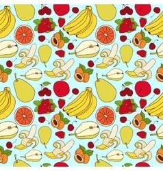Fruit pattern sketch vector