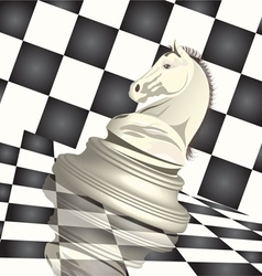 Chess horse figure vector