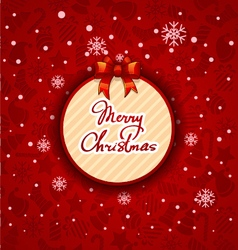 Merry christmas creative label red background vector