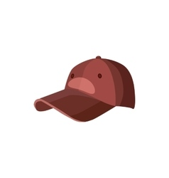 Red baseball hat icon cartoon style vector