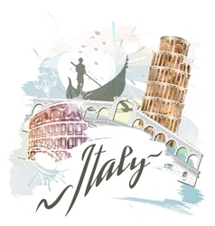 Attractions of italy vector