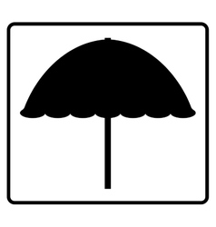 Sign beach umbrella 205 vector