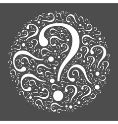Question mark mosaic in the circle vector