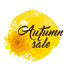 background for autumn sale vector image vector image