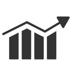 Bar Chart Trend Flat Icon vector image vector image