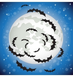 Bats flying in the night sky vector