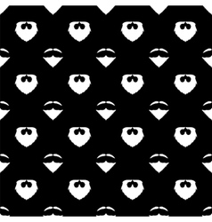 Beard silhouette seamless patternbackground vector