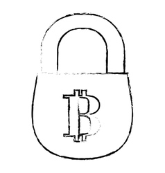 Bitcoin icon secure money symbol online vector