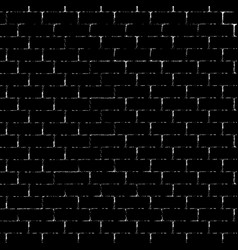 black brick wall silhouette vector image
