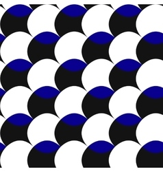 Black white blue pattern of circles vector image
