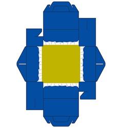 Cake box square blue vector