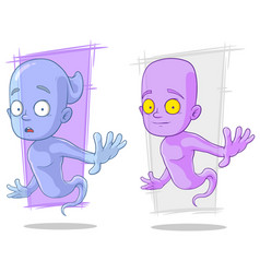 cartoon funny ghost characters set vector image vector image