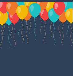 celebration flying balloons background vector image