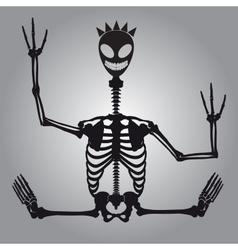 Crazy alien skeleton eps10 vector