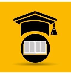 Education opened book graduation cap vector