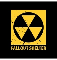 Fallout shelter vintage nuclear symbol vector
