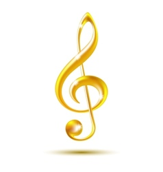 Gold treble clef vector image