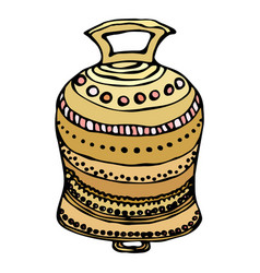 Gold wedding bell ship bell church bell ink vector