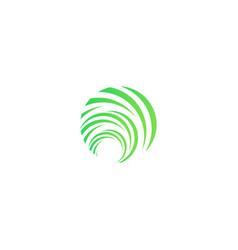 Green spring abstract symbol unusual eco waves vector