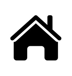 home icon - iconic design vector image vector image